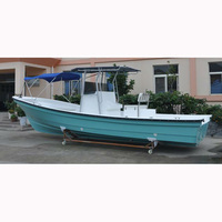 Liya 25FT fiberglass central console offshore fishing boats with outboard engine