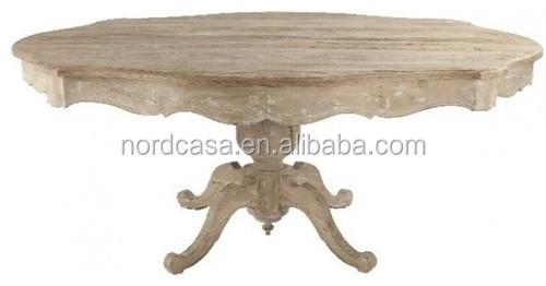 Shabby chic mobili in legno massiccio rustico tavolo da pranzo