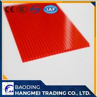 4mm 12mm twin wall polycarbonate sheet sheeting manufacture