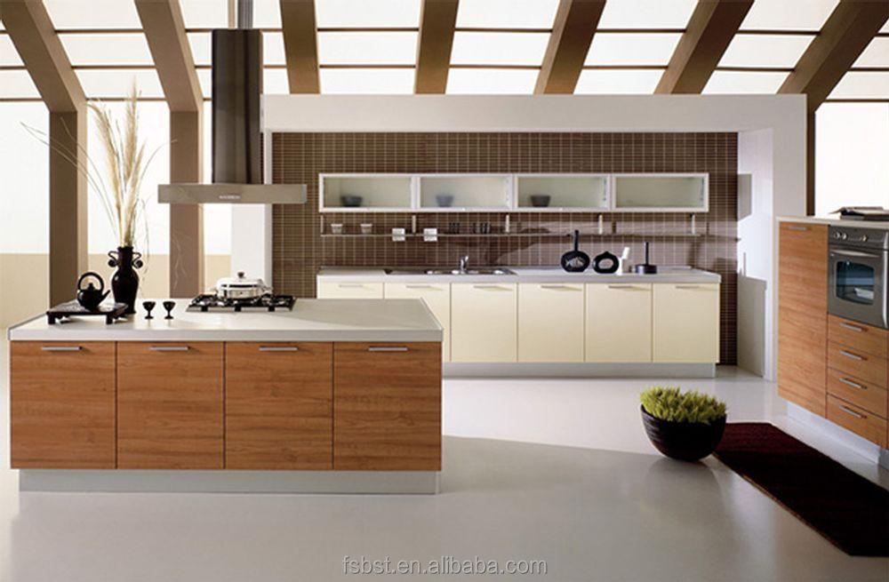 Cocina moderna pequea llamativa y elegante cocina con for Muebles para cocinas pequenas modernas