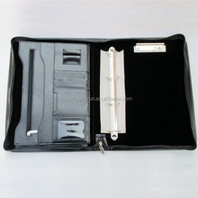 A4 Conference Portfolio Folder Case with Zip 4 Ringbinder Organiser with clip