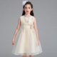 Foral girl dresses party ball gown lace for weddings rose bow kid princess dress L1832
