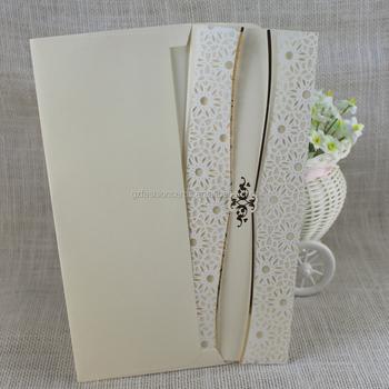 Simple Elegant Snowflake Wedding Invitation Cards With Printing