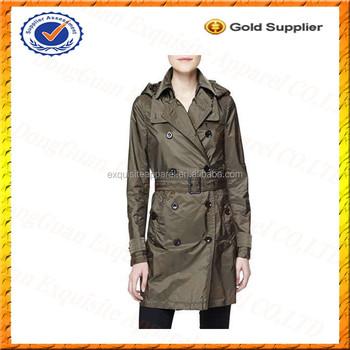 3fa5ebf757d7d Custom 100% Nylon Military Raincoat/High Quality Plus Size Trench Coat Women /Women