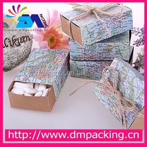 World map Paper Favor Gift Boxes For Baby Shower candy box gift package Wedding Favors Supplies