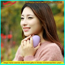 New Mango hand warmer /Innovative ideas USB Rechargeable 3-in-1 Portable Mobile body warmer stick for personal