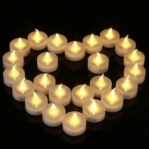 24pcs a pack Christmas decoration battery operated warm white LED candle tea light