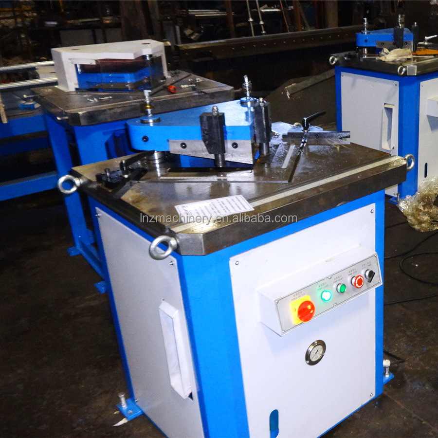 China supplier hydraulic 90 degree metal sheet angle notching machine