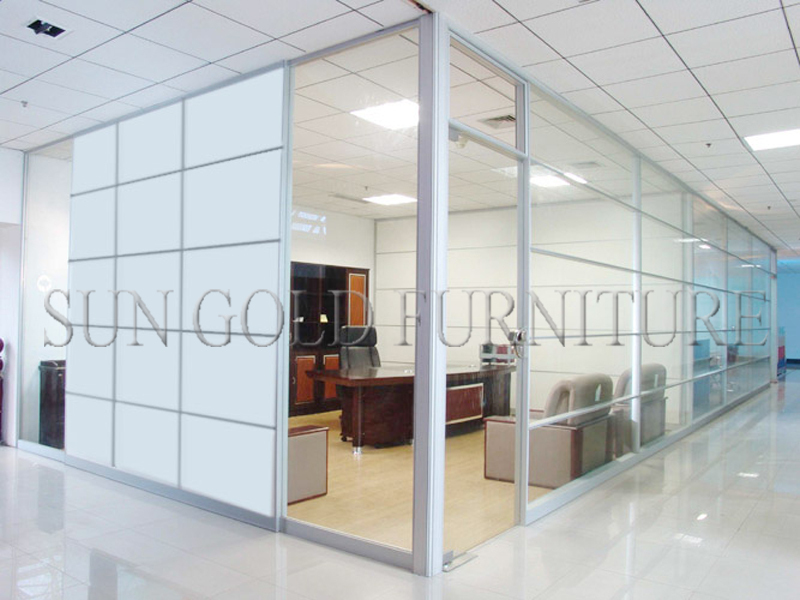 Modern Decorative Cheap Office Dividers Sliding Partition Wall(SZ WS590)