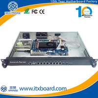 1u atom D525 server with 6 LAN for network security