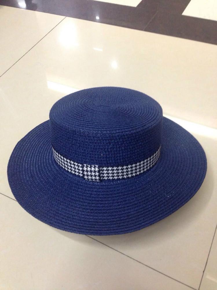 H004-014 elegante mujeres Navy color con golondrina ciñe tela Band sombrero  wholseale 87f796b6ce1