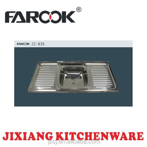 JZ-835 100x50 stainless steel kitchen sink with cook
