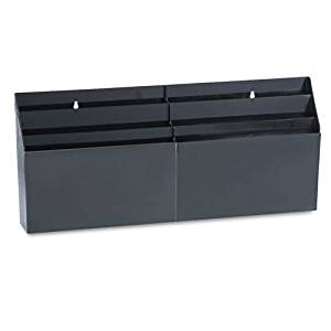 "6 Pocket Organizer,Letter Size,24-5/8""x2-3/4""x11-1/2"",Black, Sold as 1 Each"