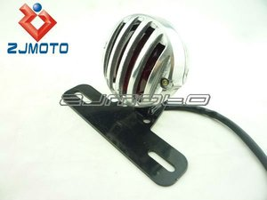 Special Cool Fashion Polish Custom Tail light Covers Over Tail - Rodda / red lens - Bike Retro For Choppers classic