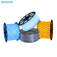 100m waterproof dmx rgb led rope light for outdoor decoration