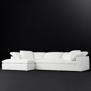 Factory supplying right corner white sofa sectional