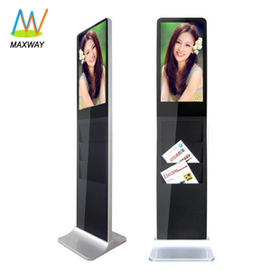 Stand Alone Lcd Brochure Holder Video Display Screen Stand Kiosk 21 Inch Shenzhen