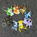 Anime Pikachu Kawaii Keychain Eevee Jolteon Flareon Vaporeon Fashion Keychain Keyring for Boys and Girls