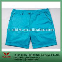 Vintage Washed Cotton Ladies Shorts 2012 Blue Color