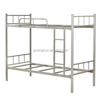 School Dormitory Furniture Steel Folding Bunk Bed / Double Floor Bed