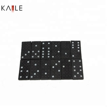Wooden Black Domino Pack In Wooden Box