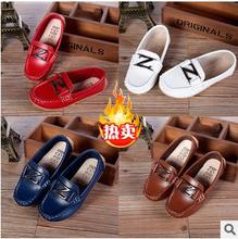 2015 Autum boy children shoes single leather shoes boys moccasin loafers shoes SIZE 21 to 36