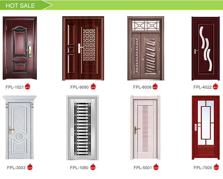 Factory Making Fancy Accepted Oem Bulletproof Steel and Aluminum Security Door