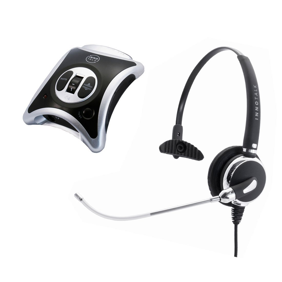 InnoTalk Headset for Avaya Lucent AT&T MLS-34, MLS-34D, MLS-6 Replaceable Voice Tube Microphone Quick Disconnect Call Center Phone Headset with Amplifier