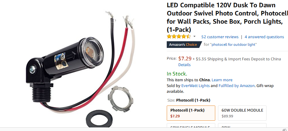Led Compatible 120v Dusk To Dawn Outdoor Swivel Photo