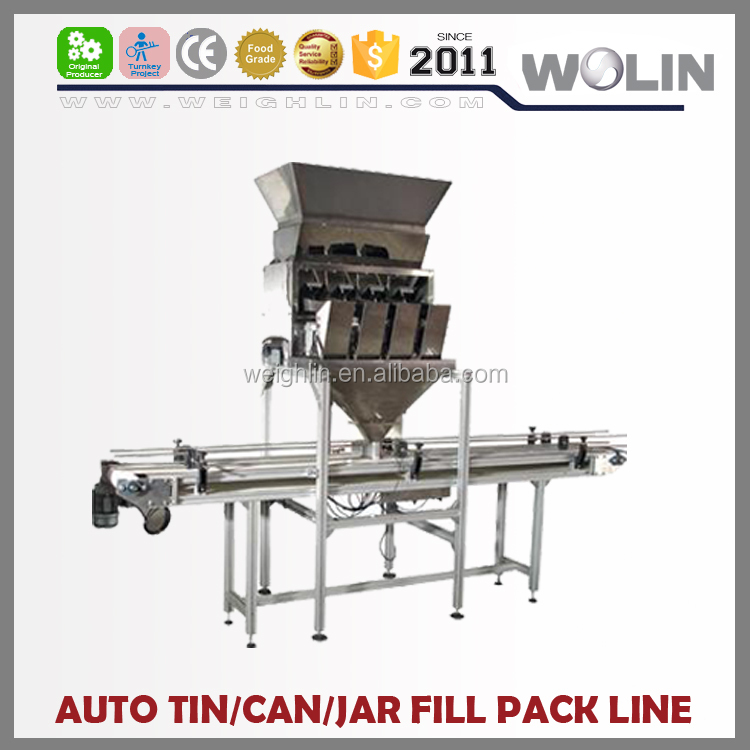 Welin Mini Smart Weight filler 4head bottle jar filling sealing line for small granules, seeds, rice, nuts or beans, etc.