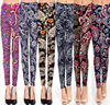 Latest Soft Cropped Women And Kids Flora Print Girls Brushed Tights Leggings