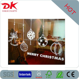 festival Christmas holiday fancy window static clings/pvc static stickers