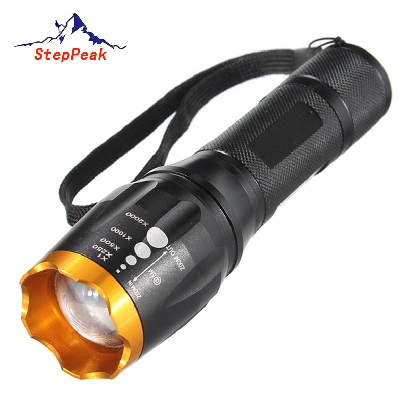 5 Mode Waterproof 2200lM CREE XM L T6 Zoom Cree Led