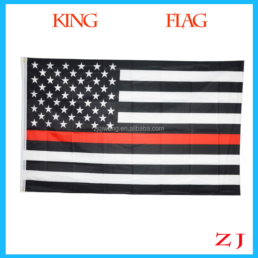 2017 Hot Sell 3 By 5 Foot Thin Red Line USA Flag, White And Red American Flag With Brass Grom 3x5ft RedLine Blue line usa Flags