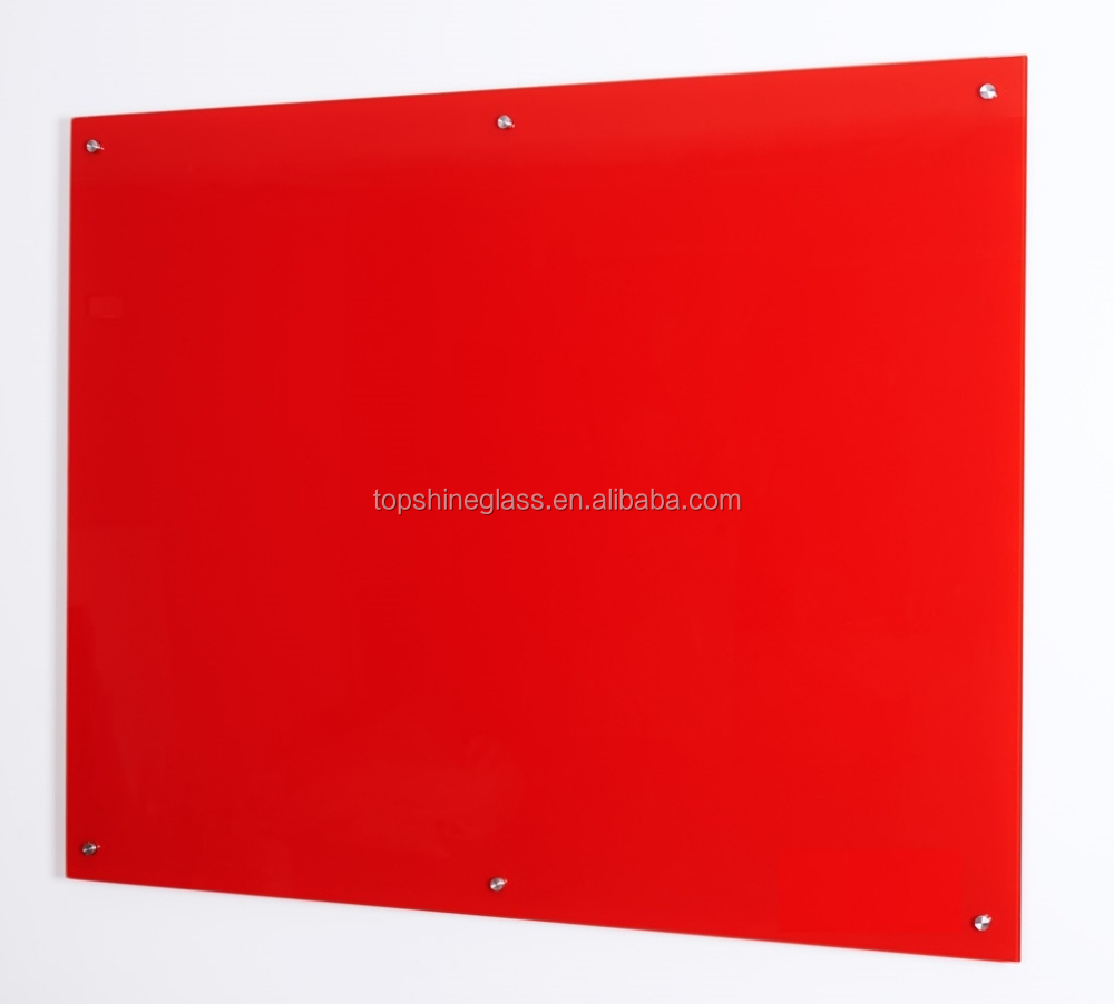4mm Dry erase glass Whiteboard with ANSI and EN12150 certificate