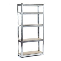 Boltless Shelving 5 Tier Racks Heavy Duty Home Warehouse Shop Shed Garage