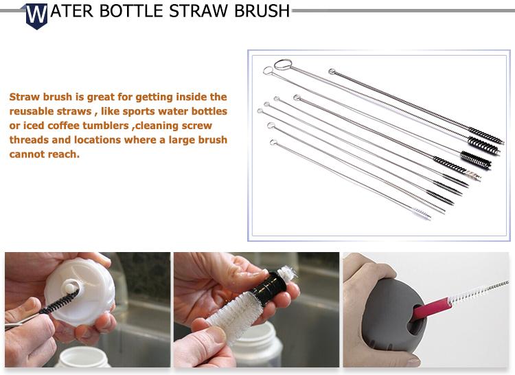 Round Wire BPA Free Baby Feeding Bottle Cleaning Brush
