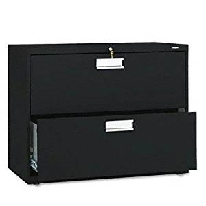 """Hon - 600 Series Two-Drawer Lateral File 36W X 19-1/4D Black """"Product Category: Office Furniture/File & Storage Cabinets"""""""