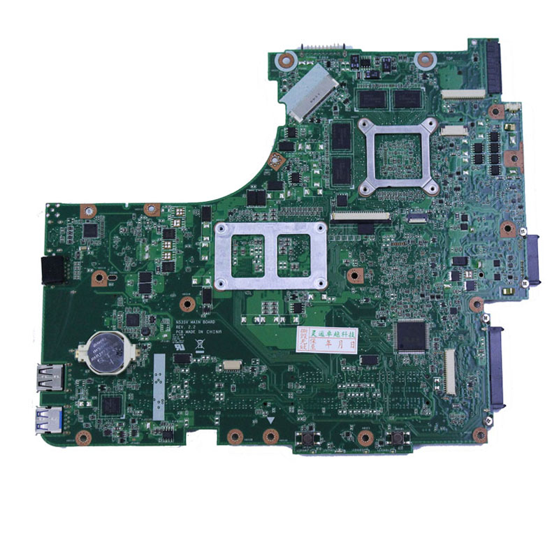 For ASUS N53SV N53SM N53SN Original laptop motherboard (mainboard) nvidia GT540M and 2 RAM slots Rev 2.2 2.0 1G 2GB tested well