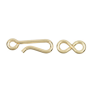 Silver gold filled 14.25mm hook and eye clasp jewelry making