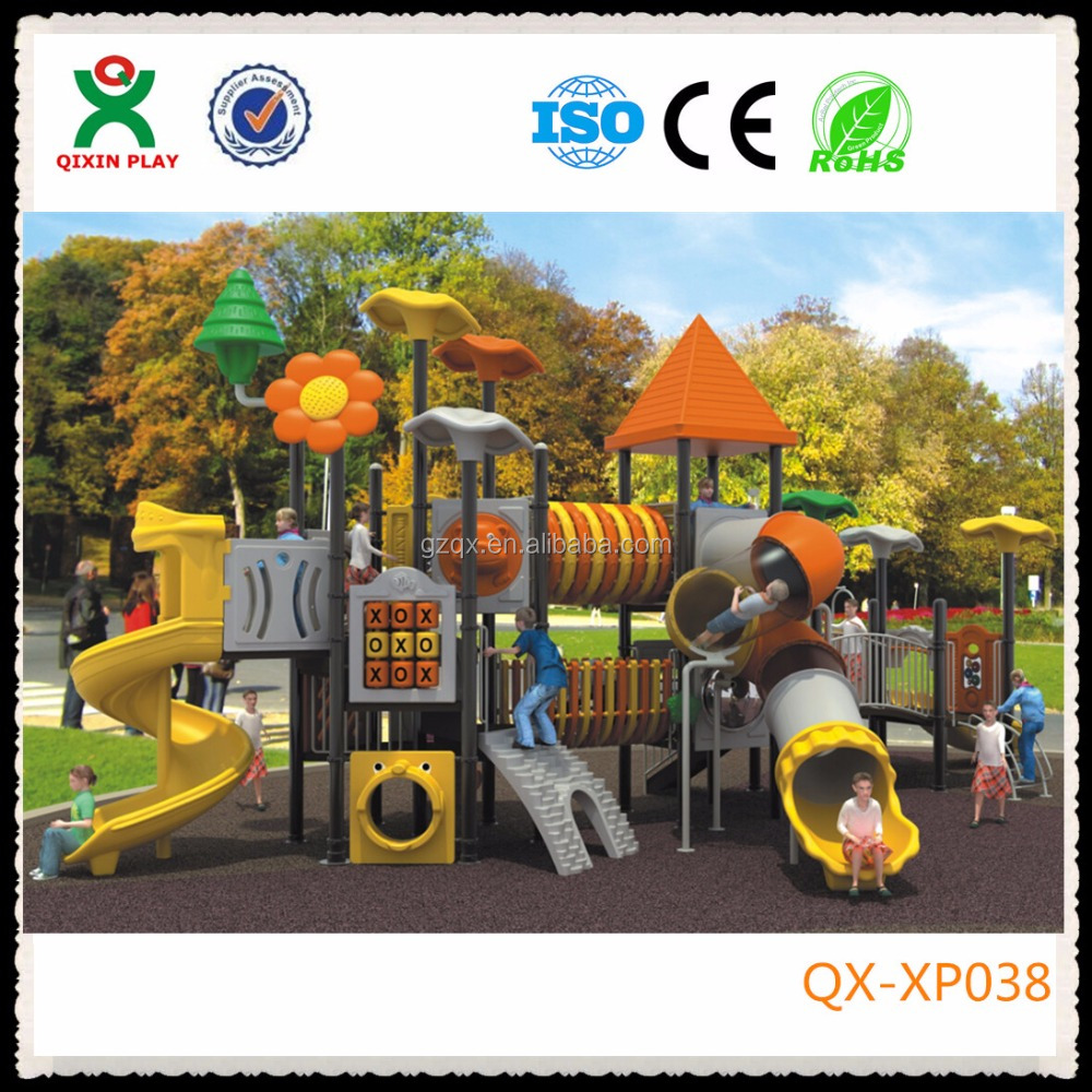 Guangzhou custom playground slides toddler outdoor slide kids large slide QX-XP038