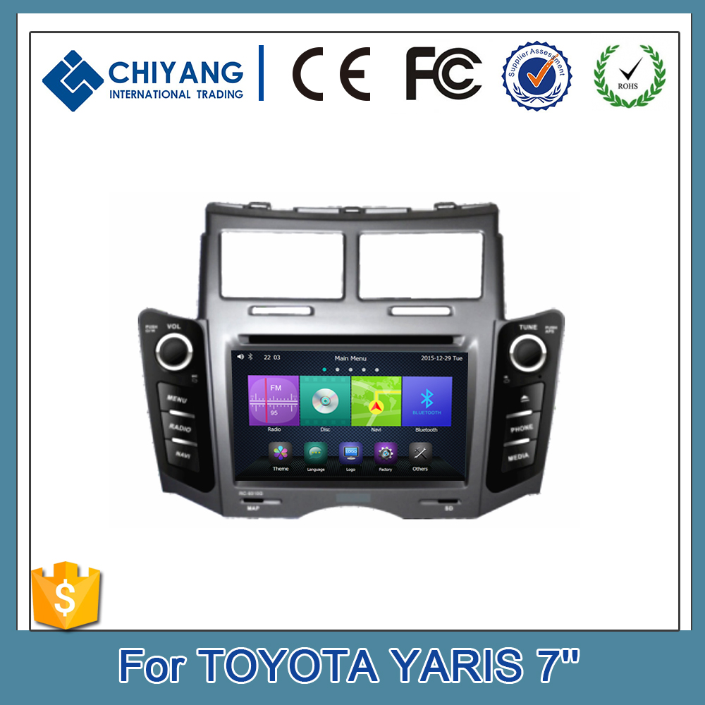 1024*600 fast speed 1GHz processor 7inch Car DVD Player GPS Navigation For Toyota Yaris 2005 -2011 AV Bluetooth TV System