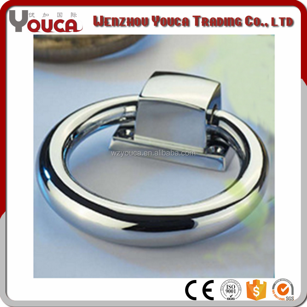 Fashional chrome plated zinc pull ring / ring door cabinet <strong>handle</strong> for chair Furniture hardware
