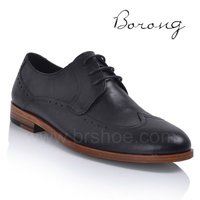 Best genuine leather men english shoes brands casual dress shoes