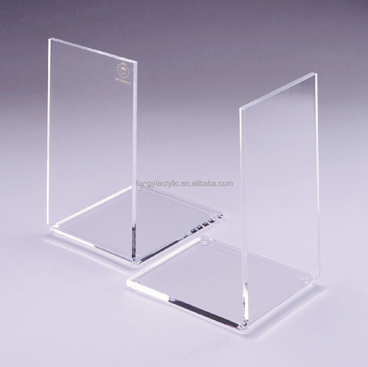 Promotional cheap practical clear acrylic bookends