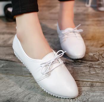 90e1e01202f Nice design British woman PU shoes fashion girls flat shoes summer fashion  leather shoes