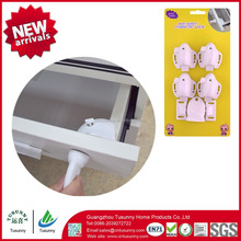 No Tools Need Magnetic Cabinet Locks System with 4 Locks + 1 Key