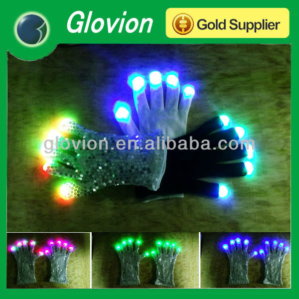 party supplies paty gifts led gloves with customized logo