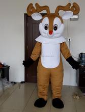 ciervos de la navidad del reno de la nariz roja traje de la mascota de adultos
