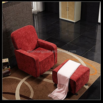 Rocking Chair Nursery Furniture Set Red Swivel Glider Ottoman Baby